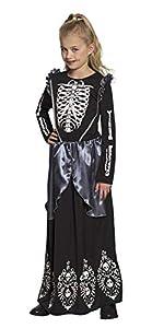 Boland 78132 - Disfraz Infantil de Esqueleto Queen (7-9 años), Color Negro, Blanco y Gris