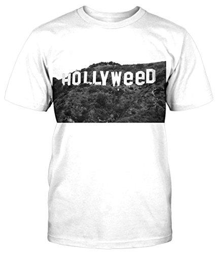 Hollyweed T-Shirt Fun Shirt Weed DOPE Gras Kush Hanf Kiffen Lustig neu Marijuana