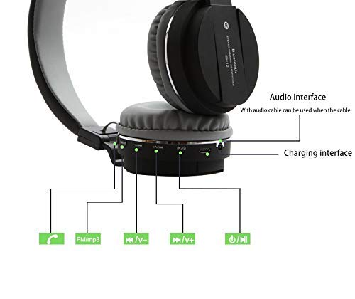 Drumstone SH12-Stereo Dynamic Headphone with FM, Card Slot, Bluetooth Headphones for Sony Xperia C Headphone (Over The Ear) Assorted Image 4