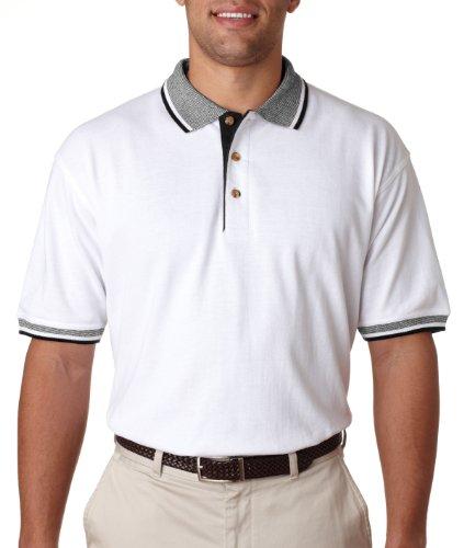 UltraClub Herren Poloshirt White/ Black