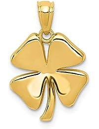 60bccb92866b Colgante de trébol de 4 hojas de oro amarillo de 14 quilates para collar