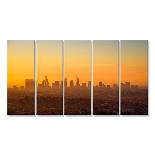 bilderfelix® Bild auf Leinwand Los Angeles-Skyline angesehen vom Griffith-Observatorium bei Wandbild, Poster, Leinwandbild MHJ (Home-observatorium)