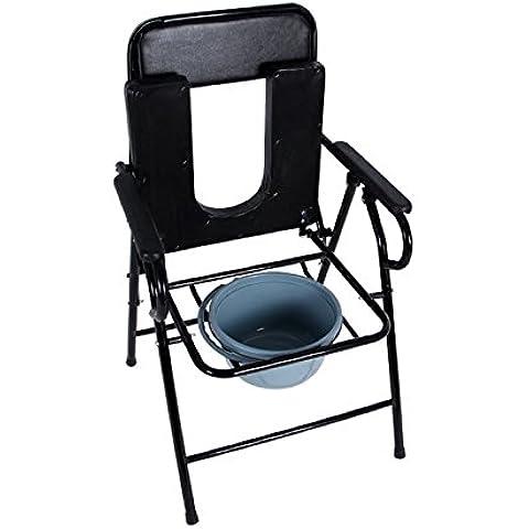 Imbottito in acciaio pieghevole WC per anziani vecchio WC sedia