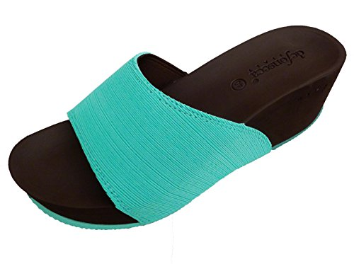 de fonseca , Sandales pour femme Vert vert Vert - Aqua