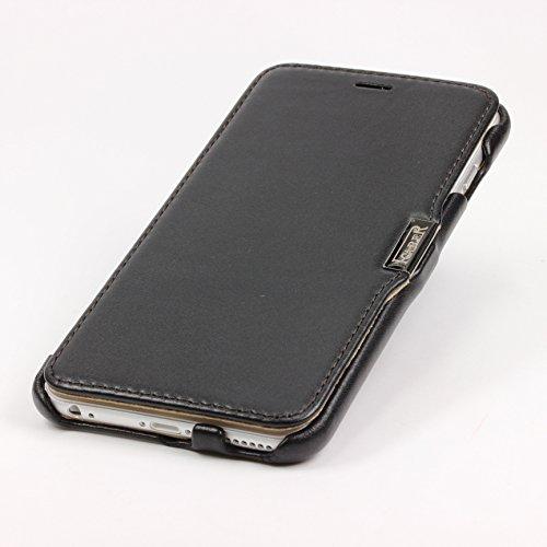 Urcover® iPhone 6 Plus 6S Plus Hülle, Wallet mit [ STANDFUNKTION KARTENFACH MAGNET ] Schutz Case Etui Bookstyle Flip Cover Handyhülle für Apple iPhone 6 Plus / 6S Plus Farbe: Weiß Schwarz