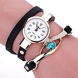 Beautiful Watches , Duoya Brand New Women Bracelet Leather Strap Crystal Watch Long Chain Wristwatches Jewelry Montres femme Gift idea Cool Watches Unique Watches