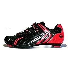 Idea Regalo - Deko Sports, scarpe bici da strada, modello Race, colore nero/rosso, misure varie (41)