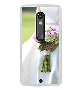 ifasho Designer Back Case Cover for Motorola Moto X Play (Brahma Kamal Jovial Rose Nozzle Tip NonpareilEliteCreamInexpedience)
