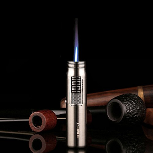 Outdoor-Sturmfeuerzeug, Brennerflamme mit 1300&degC, Butangas, nachf&uumlllbarer Kleinl&oumltkolben Schwei&szligkolben, Mini lighter black