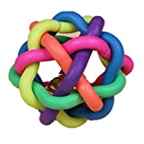 Kingko Pet Toys for Dogs Colorful Soft Bell Plastic Ball Durable Fetch Chew Pet Dog Toy