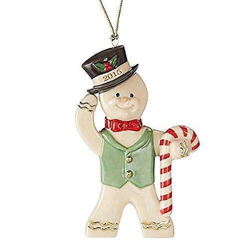 Lenox Weihnachten 2015einjährig Lebkuchenmann Ornament Ginger Gent Candy Cane New Candy Lenox