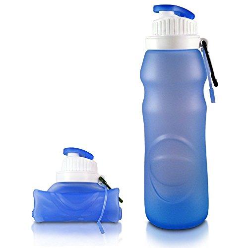 Bazar Botella de agua de Silicona Protable Sport Plegable Taza de Botellas Hermética Bicicleta Botella de Agua Plegable de Viaje
