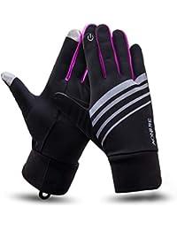 HIFUN 13357 hi-Call Frau lila Fingerhandschuhe Damenhandschuhe Handschuhe Damen