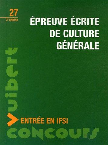 Epreuve écrite de culture générale