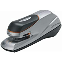 Rexel Optima Grip - Grapadora eléctrica, color negro/plata