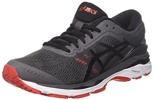 ASICS Herren Gel-Kayano 24 Laufschuhe Grau (Dark Grey/Black/Fiery Red 9590) 47 EU