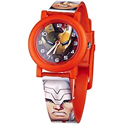 Marvel Children's Quartz Watch with Multicolour Dial Analogue Display and Multicolour Plastic Strap MAR70
