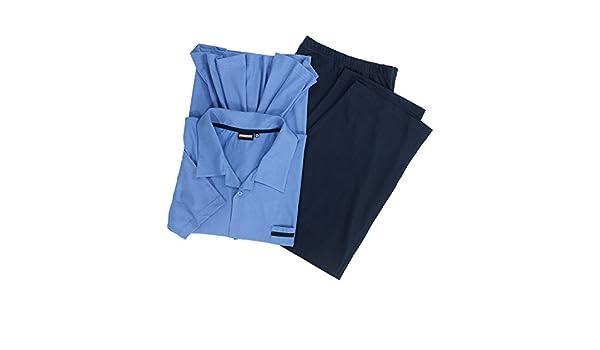 ADAMO Lange Schlafhose in dunkelblau /Übergr/ö/ßen bis 10XL