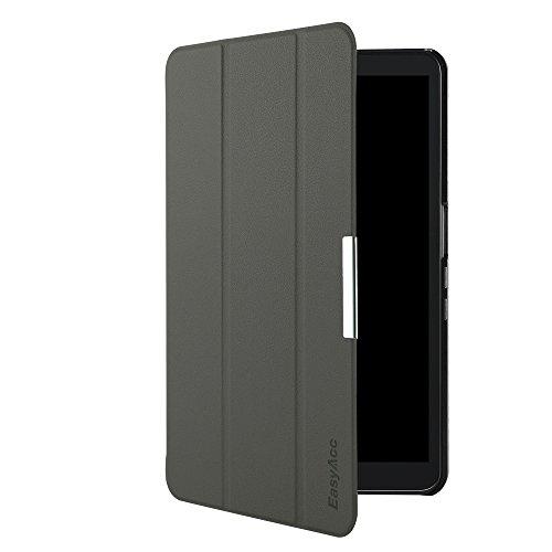 Samsung Galaxy Tab A (2016) 10.1 Hülle, EasyAcc Samsung Galaxy Tab A 10.1 T580N/ T585N Case Schutzhülle Hochwertiges PU Leder Etui - mit Automatischem Schlaf Funktion und Standfunktion (Grau, Kunstleder, Ultra Dünn)