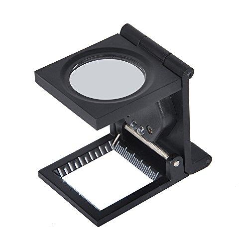 Fadenzähler - Delaman Klappbare LED Lupe, 10 Fach Fadenzähler mit Licht für Textile Schmuckwerkzeug