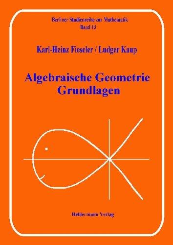Algebraische Geometrie: Grundlagen (Berliner Studienreihe zur Mathematik)