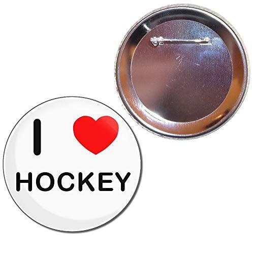 BadgeBeast.co.uk I Love Hockey - 77mm Knopfabzeichen