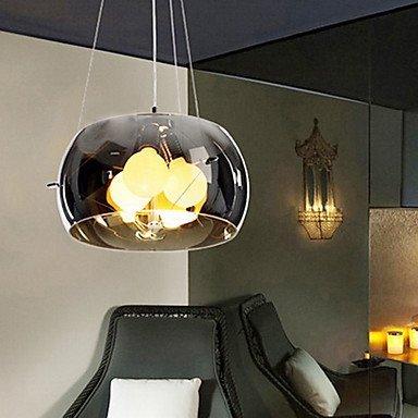 Kejing Moderne Kronleuchter Deckenleuchten Anhänger Italy Style is Contemporary Classic 3 Light Anhänger in Schwarzer Durchsichtiger Abdeckung 3C Ce FCC Rohs für Schlafzimmer im Wohnzimmer, 220-24 -