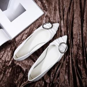 Hexiajia - Chaussures Oxford Blanches Pour Femme