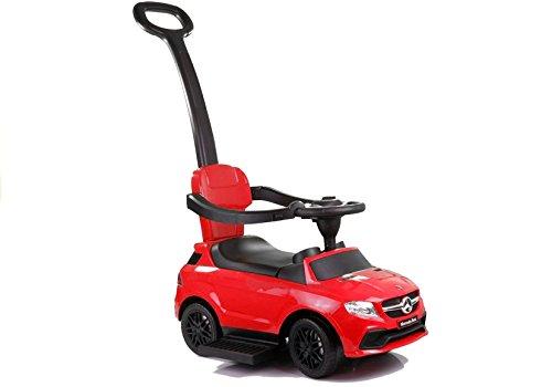 Lean Toys Rutscherfahrzeug mit Schiebestange Rot