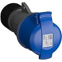 ABB 232EC6 IP44 2P+E - Toma de cable recta, termoplástico, color azul