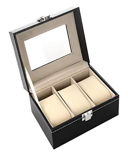 Vaycally 3 Leder Uhrenbox Fall Halter Für Unisex Handgelenk Display Schmuck Organizer Lagerung PU Leder Display Organizer Display Box Tray Halter für Männer oder Frauen 8-slot-display-trays