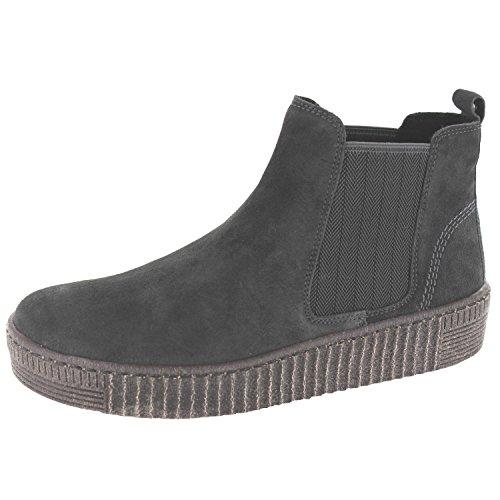 Gabor Damenschuhe 73.731.19 Damen Stiefeletten, Boots, Stiefel, in Comfort-Mehrweite, mit Reißverschluss Grau (Pepper (anthrazit)), EU 7.5 Beige Damen-slip