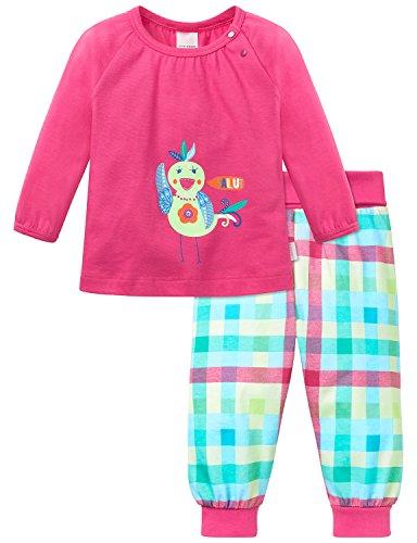 Schiesser Baby-Mädchen Zweiteiliger Schlafanzug Anzug 2-Teilig Rot (Pink 504), 74 (Boardshort Kleine Mädchen)