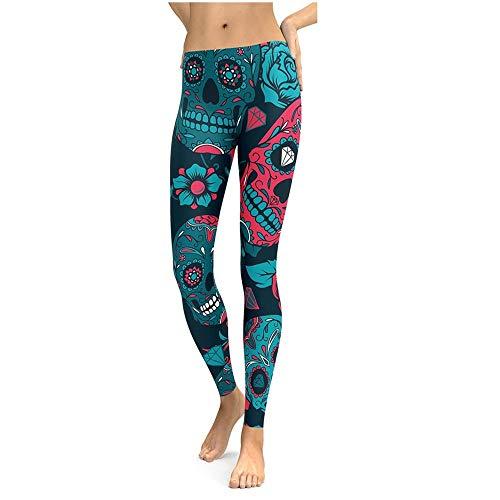 YURACEER Hosen Yogahosen Frau 1 stück Set Yoga Laufen Fitness Fest Gamaschen Drucken Atmungsaktiv Schweiß Hohe Taille Elastische Fitnesshose Sport Yogahosen Yoga-Strumpfhosen