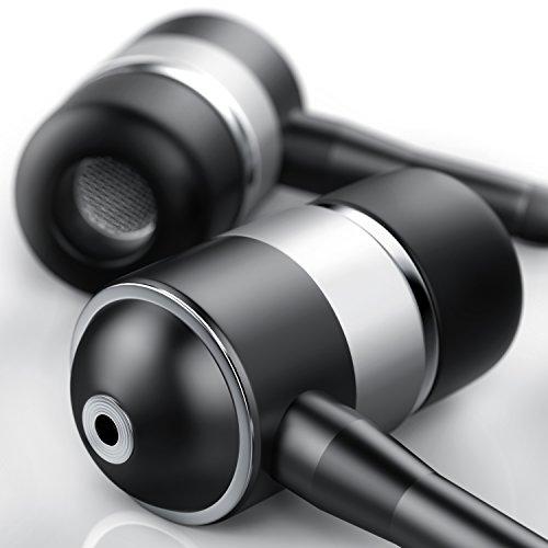 CSL - In Ear Kopfhörer EP Power Bass - Alu Earphone - widerstandsfähiges Aramid Kabel - Knickschutz - 10mm Schallwandler EP Bass - anthrazit Silber