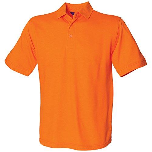 Henbury Men's 65/35 polo Orange