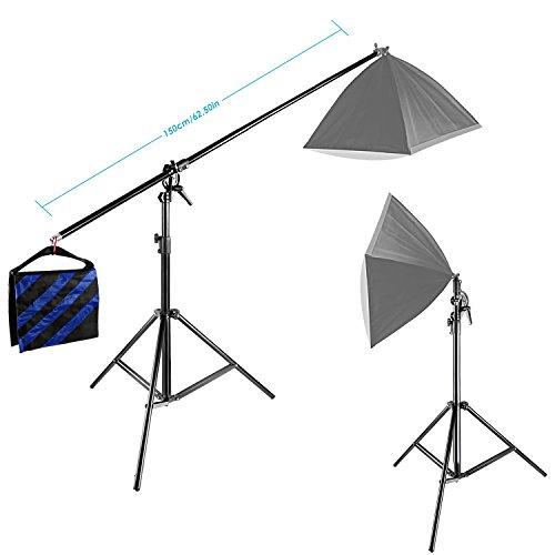 Neewer® 10ft / 3M Zweiwegige Drehbare Stativ Ausleger Lampenstativ mit Sandsack Foto Fotografie Video Studio