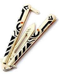 Cuchillo de mariposa Trainer Csgo Csgo mariposa Formación Práctica herramienta con Unsharpened hoja
