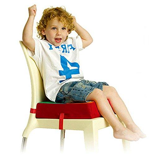 Lalawow Baby Sitzerhöhungen Verstellbare Zerlegbar Boostersitze Sessel Kissen für Kinder (Bunt Gitter)