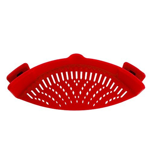 Pan sieve, removable strainer silicone strainer with spout