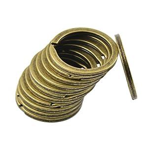 12 Stück Runde Schnapphaken Clips Federringverschluss DIY Schmuck Herstellen – Bronze