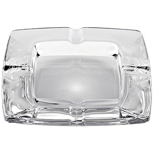 CRISTALICA Aschenbecher Ascher aus Bleikristall Zigarre Zigarette Klara 15 X 15 cm Hochwertiges Glas Moderner Zeitloser Style (Crystal Zigarette Aschenbecher)