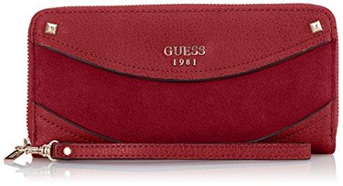 Guess Solene, Portafoglio Donna, Rosso (Bordeaux), 21x10x2 cm