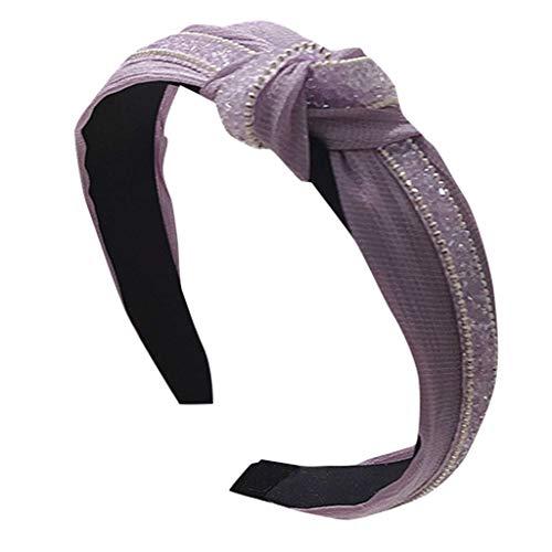 YounthoneKopfband Haarspange,Damen Kristall Stirnband Stoff Haarband Kopf wickeln Haarband Zubehör speciales neues Design für Damen Braut Haarklammern