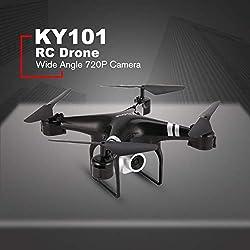 MachinYesity KY101S WiFi FPV Grandangolare 720P Fotocamera Selfie RC Drone Altitude Hold modalità Headless 3D Flip One Key Return Quadcopter 18 Minuti Nero