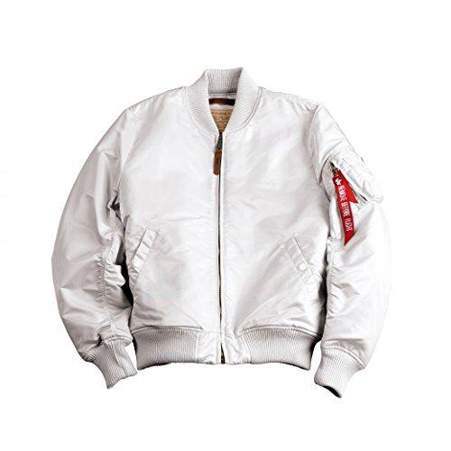 ALPHA INDUSTRIES - Blousons - Herren - Bomberjacke MA-1 Nylon Weiß für herren - S