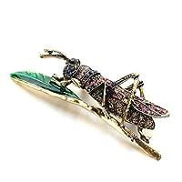 LJSLYJ Vintage Grasshopper Brooch for Women Insect Brooch Lapel Pin Women Jewelry