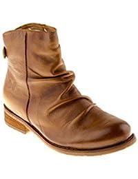 Felmini Zapatos Para Mujer - Enamorarse com Beja B137 - Botines con Cremallera - Cuero Genuino - Marrón