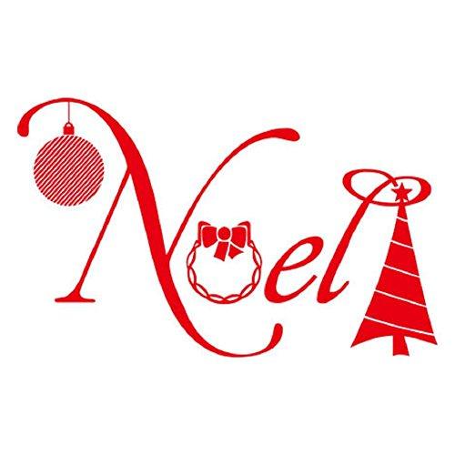 YYH PVC auto adesivo parete decalcomanie Natale benedizione campana Decor murali adesivi confezione da 5