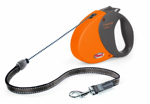 flexi Hundeleine Comfort Long 1, Länge 8m, bis 12 kg, orange